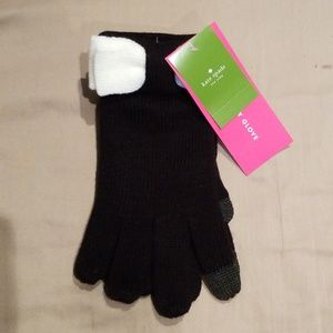 KATE SPADE Colorblock Cute Bow Gloves